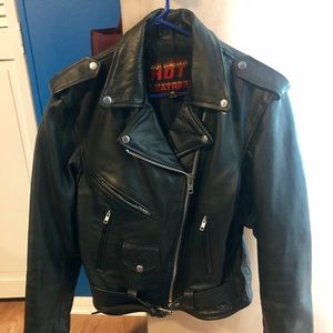 Hot Leather Classic Motorcycle Jacket.